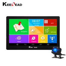 KEELEAD android car gps navigation 7 inch wifi gps navigator tablet GPS Navigator WIFI AVIN bluetooth Camera HD 800x480 512M/8GB