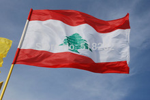 lebanon Flag 150x90cm custom flag banner at all size national flags, free shipping(China)