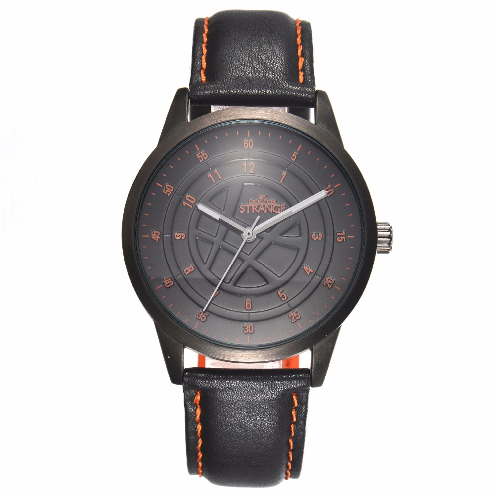 Disney brand MV-82014 Marvel mens watches Genuine black leather quartz waterproof luminous luxury original male wristwatch<br>