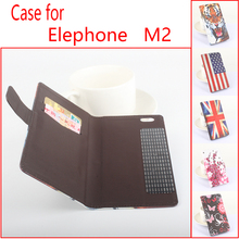 "Buy Stand Flip Design PU Leather Case Elephone M2 MTK6753 5.5"" Wallet Style Cover Card Slot Cell Phone Elephone M2 for $4.99 in AliExpress store"