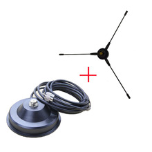 RE-02 Mobile Ground antenna UHF-F Radio Station Radical 10-1300MHz +Magnetic Mount 5M Coaxial Cable For Car Radio Mobile Radio