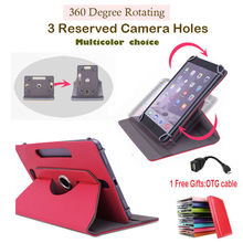 "For Ainol Novo 10 Hero II 2 10.1""Inch 360Degree Rotating Universal Tablet PU Leather cover case"
