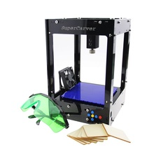 Freeshipping Supercarver laser carving V2/500mw mini DIY laser engraving machine/IC marking/laser printer/carving work