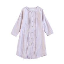 2018 NEW Women Nightdress Summer Casual Home Dress Cotton Nightgown  Negligee Long Sleeve Sleepwear Sleep Shirt 18256b802