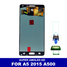 Tested Working Well AMOLED LCD Display For Samsung Galaxy A5 2015 A500 A500H A500F A500M Touch Screen Assembly with Sticker