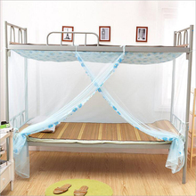 Simple Student Mosquito Net School Dormitory Quadrate Tulle Nets for 1m 1.2m Single Bed Dust-proof Anti-mosquito Summer Supply