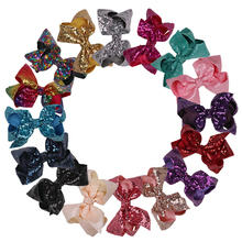 16pcs/lot 5.5 inch Big Ribbon Cheer Bows with Clips Party Hair Bows Women Hair Clip Large Hair Bows Wholesale Hair Accessories
