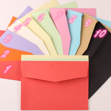 12pcs/lot 125mm*170mm 10 Colors Paper Envelopes Bags Wholesale for Greeting Cards Postcard Invitations Announcements Assorted