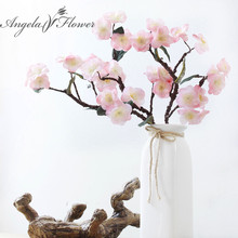 Real Touch Hydra artificial Japanese cherry blossoms fake decorative flowers for wedding new home 4 colors HI-Q 1pcs(China)
