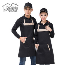 BBQ Party Apron Kitchen Cooking Apron With 2 Pockets Men And Women Korean Fashion Coffee Shop Uniforms Overall Delantal Cocina(China)