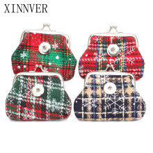 4 Color 18MM Snap Button Jewelry Christmas Gift Mini Coin Purse For Women Bracelet ZN014