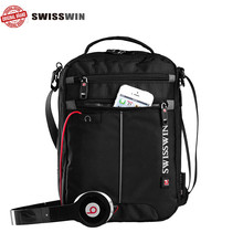 Buy swisswin swiss Business Shoulder Bag Man Waterproof Messenger Bag fashion brand portable Satchels Crossbody Bag for $35.00 in AliExpress store