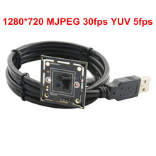 M7 45 degree lens MJPEG 30fps 1280X720 High speed USB2.0 Ominivision OV9712 Chips USB Camera module, 32*32mm small size