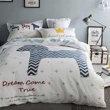 cartoon style bedding sets cute horse pattern linens cotton twin/single/queen/king/double size sheets sets