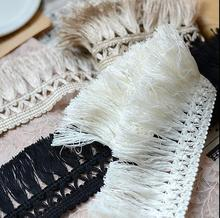 Hot Sale New 2 Meter/lot 5.5CM Fringe Cotton Polester Lace Trim Tassel Lace Trimmings High Quality