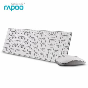 Marke qualität rapoo 9300 p ultradünne metall 5g optische usb drahtlose tastatur und maus combos für pc laptop gaming-weiß