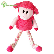 Skyleshine Lillipitiens Baby Plush Toys Lovely Sheep Dolls Cute Goat With Bells Stuffed Doll Baby Sleeping Doll 42cm(China)