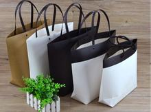 Size:37*28*10cm 15pcs/lot large size kraft paper shopping bag for clothes/shoes/jewelry paper gift packaging bag with handles(China)
