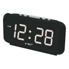 Big numbers Digital Alarm Clocks EU Plug AC power Electronic Table Clocks With 1.8 Large LED Display home decor clock