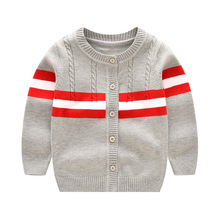 High Quality Baby Cardigan Spring Autumn Infant's Wear Boys Sweater 3-12M Children's Clothing Cotton Sweaters Wholesale Retail