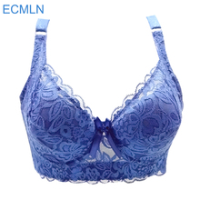 Hot Full cup thin underwear small bra plus size wireless adjustable lace Women's bra breast cover B C D cup Large size 36-46