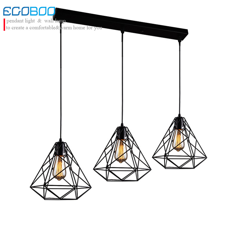 Modern Loft Black Cord Pendant Lamps Lights Europe Style hanging Pendant Lighting fixtures with E27 socket  110v / 220v<br>