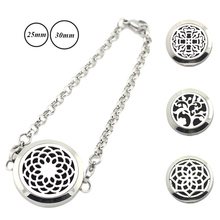 Buy  (Free 5pcs Felt Pads) 316L Stainless Steel 25mm 30mm magnetic Aromatherapy Essential Oils Perfume Diffuser Locket Bracelet for $4.80 in AliExpress store