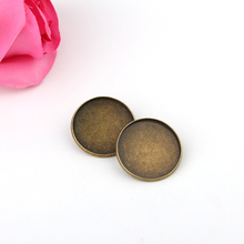 5pc/lot Fit 25mm Glass Cabochon Cameo Brooch Pin Round Base Tray Bezel Blank Bag Scarves Hat Charms Making Findings Diy Handmade(China)