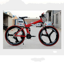 Buy Kalosse Magnesuim alloy 26*2.125 DIY colors bicycle foldable 21/24/27/30 speed Hydraulic brakes, mountain bike man for $273.90 in AliExpress store