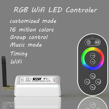 16 millions color RGB WIFI LED controller with remote,Group or timing control magic color music controller for Iphone,Android