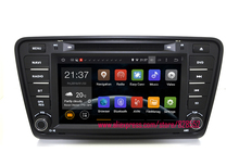 Free shinpping Android Car DVD Player For Skoda Octavia 2013 2014 support 3G/WIFI GPS Navigation Radio