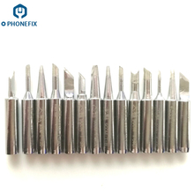 PHONEFIX 14pcs 900M-T Copper Iron Tips Soldering Tip Set For Soldering Iron Low Temperature Soldering Station Tool(China)