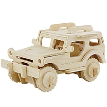 3D Wood Puzzles for Children and Adults Vehicle Puzzles Wood Toys for Learning and Environmental Assemble Toy Educational Game