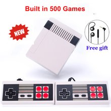 Retro Mini TV Handheld Game Console Video Game Console For Nes Games Built-in 500 Different Games PAL&NTSC dual gamepad Players(China)