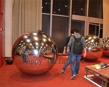Silver Ball 1.5m Reflective Inflatable Toy Ball Fashion Mirror Ball For Advertising Inflatable Ballon Decoration(China)