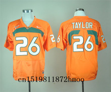 Free shipping 2017-2018 Nike New Arrival Nike Miami Hurricanes Sean Taylor 26 White Sweatshirts Blackout(China)