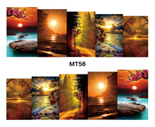 Nail Art MT56 Full Cover The Evening Sun Nail Art Water Transfer Sticker Decal For Nail Art Tattoo Tips DIY Nail Tool(China)