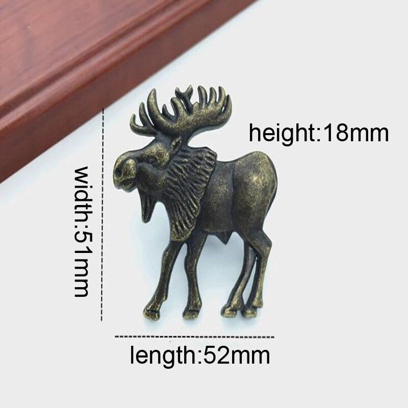 Vintage Furniture Cabinet Knobs And Handles Bronze Tone Pattern Drawer Cabinet Desk Door Pull Handle like deer<br><br>Aliexpress