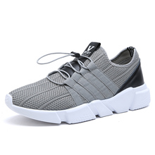 2017 New Running Shoes MenTrainers Breathable Mens Sports Shoes Sale Gray/Black Running Trainers Mens Cheap Sneakers Online(China)
