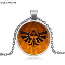 jewelry micro chapter Badge Zelda glass pendant factory direct time gem necklace(China)