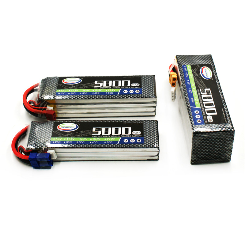 MOSEWORTH RC Lipo Battery 11.1v 3S 5000mAh 40C For RC Aircraft Quadcopter Helicopter Boat Drones Car Airplane AKKU Li-polymer 3S<br>