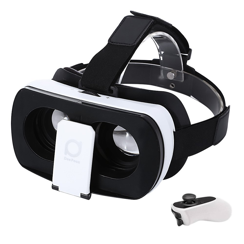 Original Muti-function Cool Deepoon V3 3D VR Glasses Virtual Reality Glasses 96 Degree View Angle with Romote Controller<br><br>Aliexpress