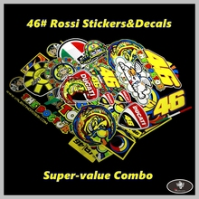 Free shippingMOTO GP 46# Rossi Valentino Motocross Sticers&Decals Reflective Motorcycle Car Stickers Bike windshield Helmet ATV