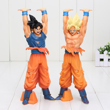 24cm Dragon Ball Z Action Figures Toys Super Saiyan Son Goku Genki dama Spirit Bomb Dragonball Bolas De Dragon DBZ Model Toy(China)
