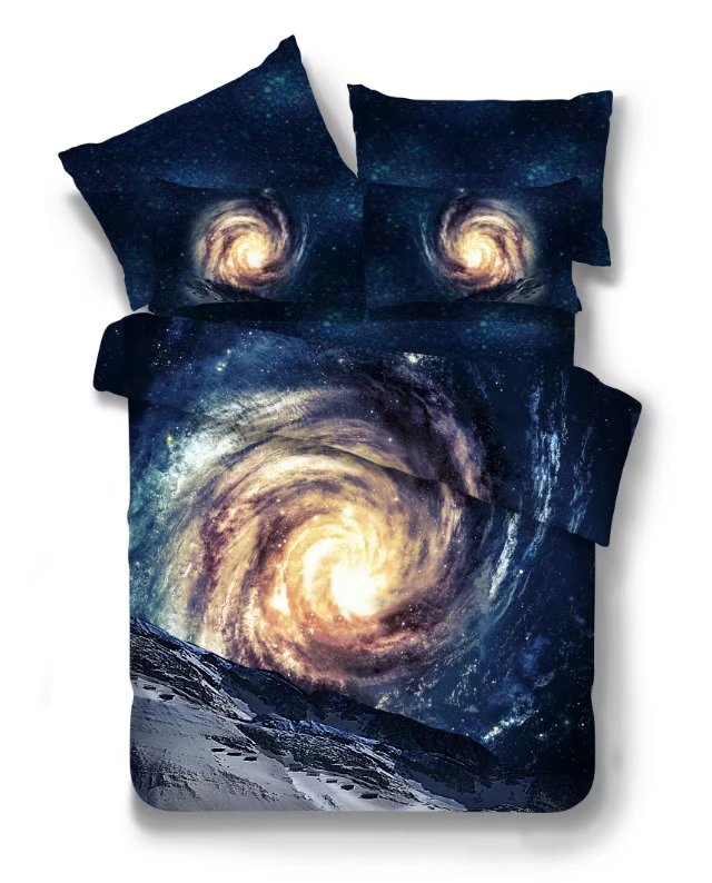 Hot 3d Galaxy bedding sets Twin/Queen Size Universe Outer Space Themed Bedspread 2/3/4pcs Bed Linen Bed Sheets Duvet Cover Set 55