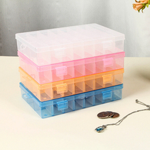 Adjustable 24 Value Clear Electronic Components Storage Assortment Box Plastic Case Convenience Store Small Items 4 Colors(China)