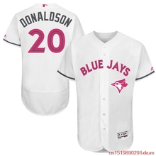 MLB Men's Toronto Blue Jays Josh Donaldson Baseball White Mother's Day Flex Base Jersey(China)