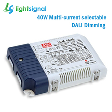 40W MEANWELL DALI dimmable LED driver dimming LED power supply with Multiple constant current selectable 1.05~2.1A
