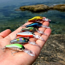 wobblers Super Quality 6 Colors 35cm 2.4g Hard Bait Minnow Crank Fishing lures Bass Fresh Salt water 4# VMC hooks