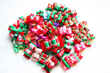 30pcs/ lot Mix Christmas Design Handmade Pet Dog Bows Pet Hair Bows for Christmas Pet Dog Hair Accessories Pet Grooming Products(China)